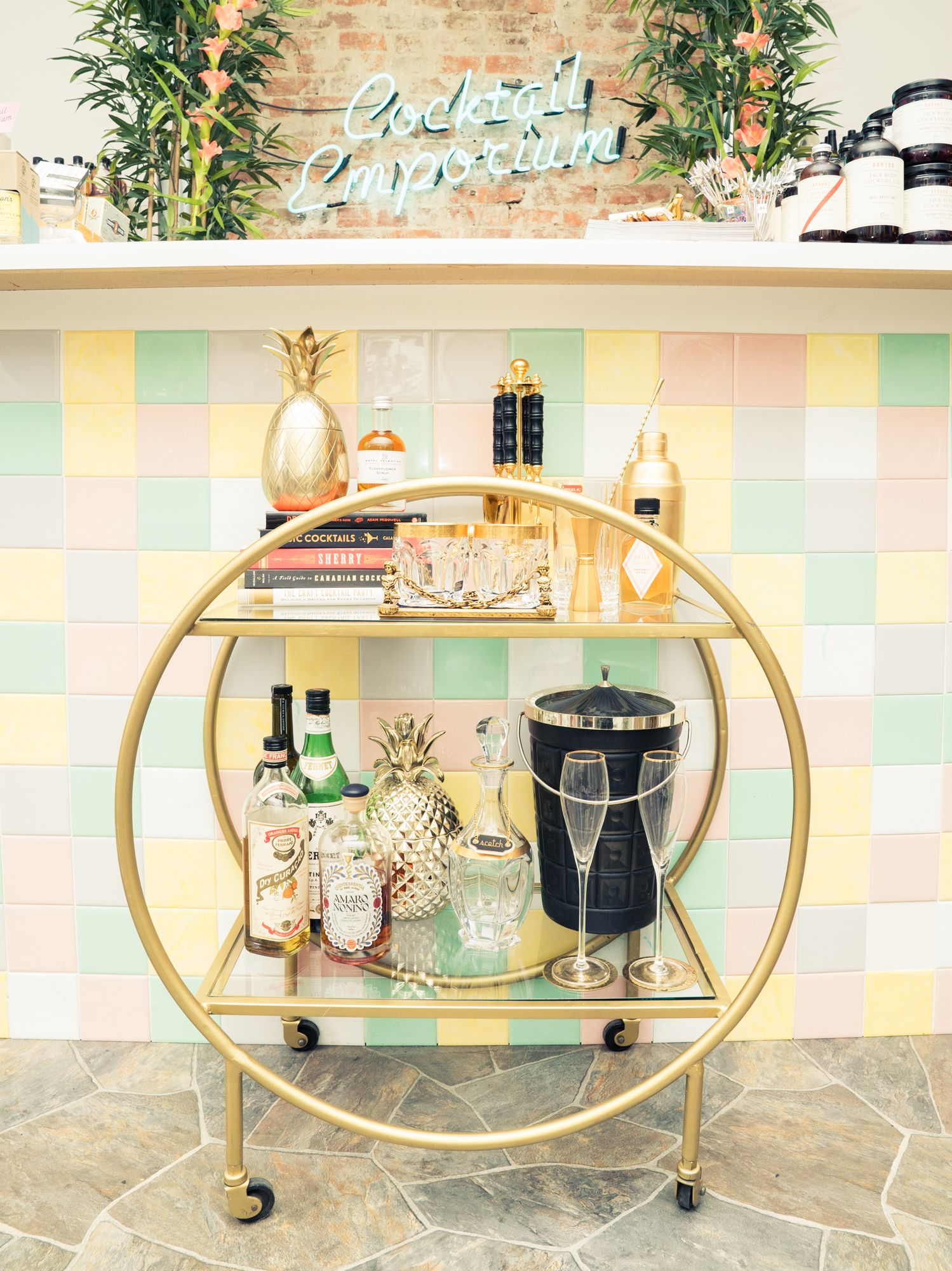 How to Really Style & Stock a Bar Cart