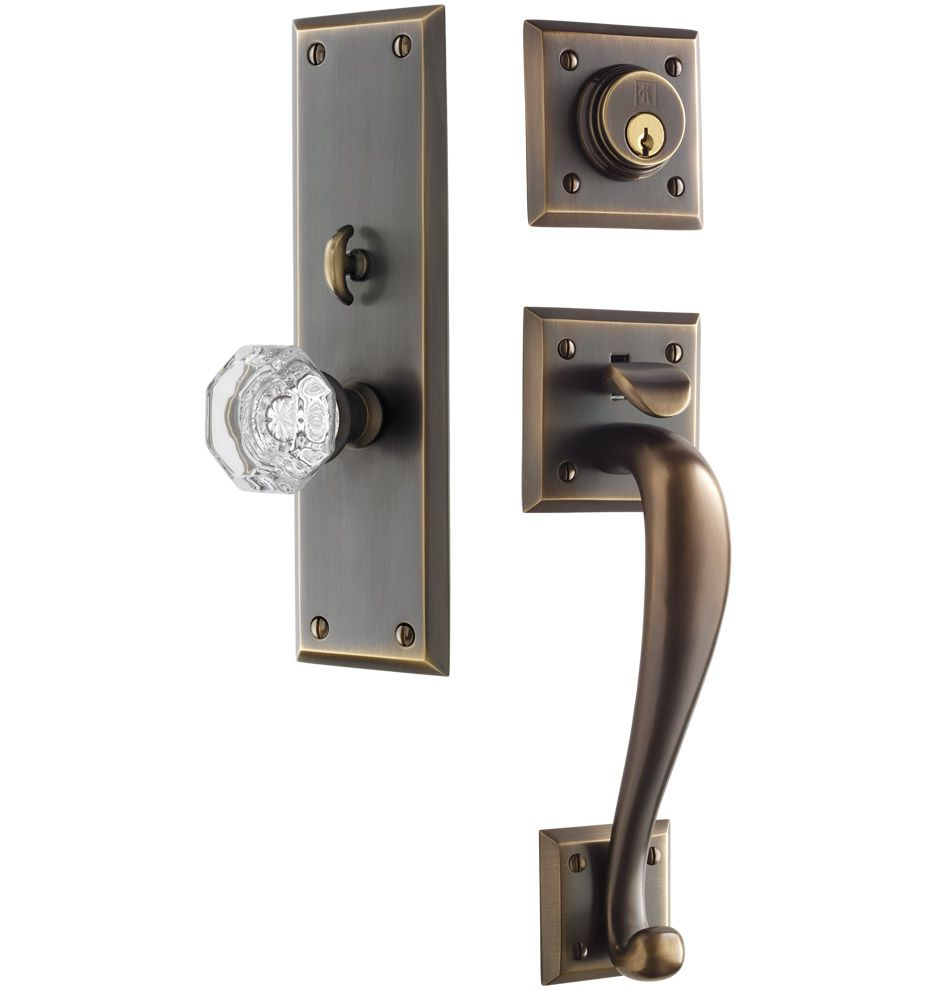 Coleman Octagonal Crystal Knob Exterior Door Hardware