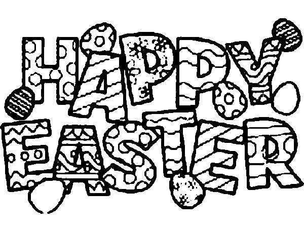 Happy Easter 2014 Pictures to Colour, Draw, Print