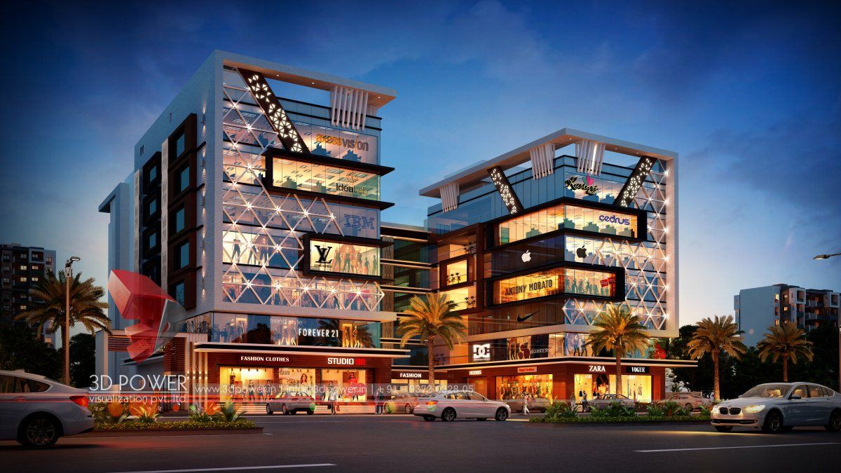 3d Rendering Of Shopping Mall Shopping Mall Architecture Mall Design Mall Facade