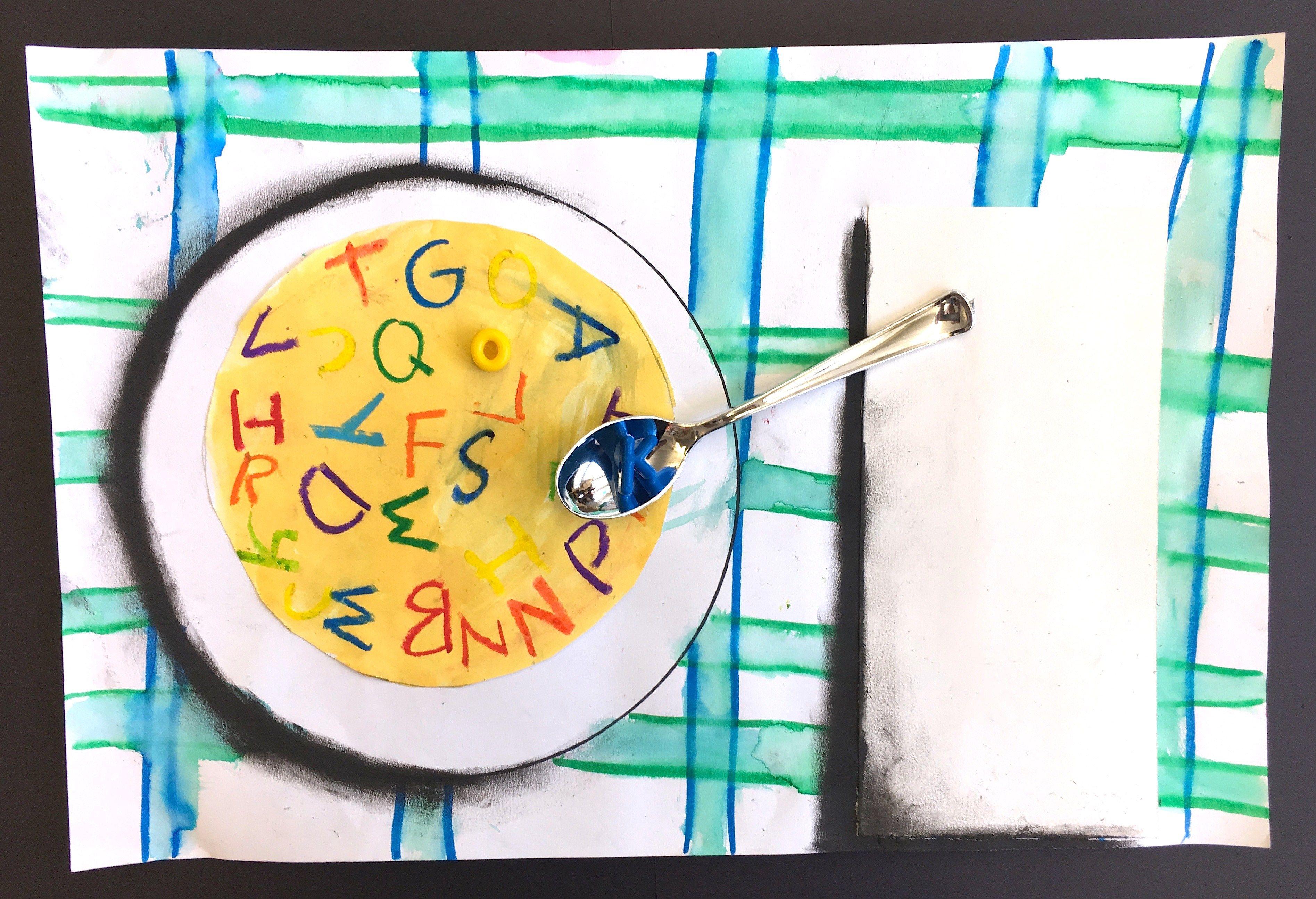 1st Grade Mixed Media Alphabet Soup Art Lessons Art Lessons
