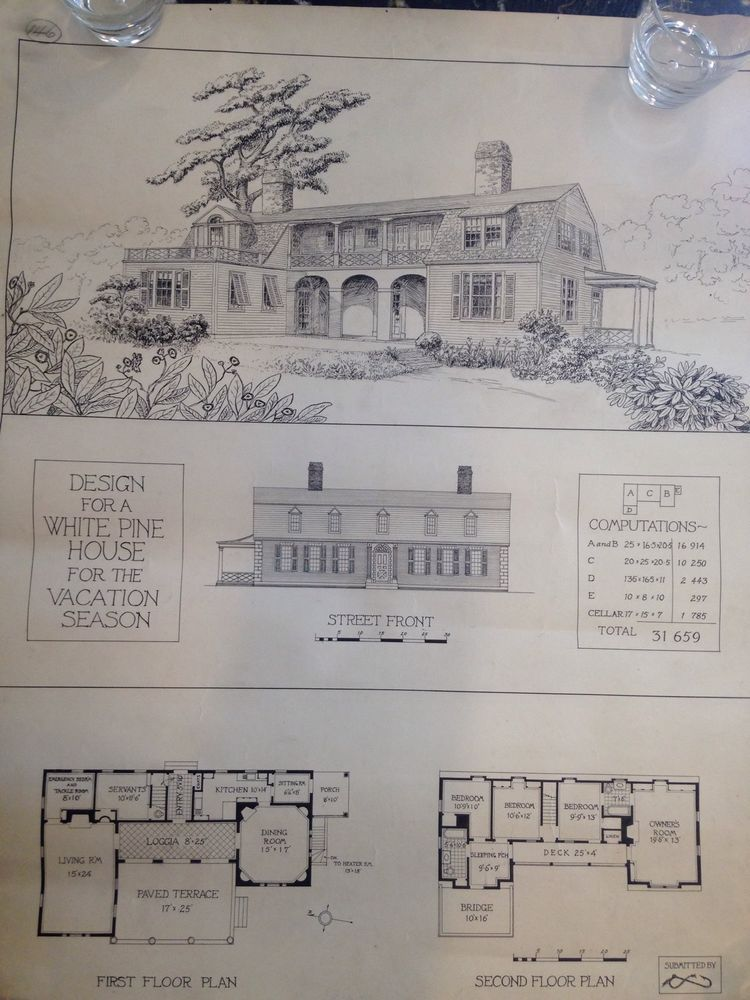 Original ink pencil house architect plans early 1900s artwork original ink pencil house architect plans early 1900s artwork blueprint malvernweather