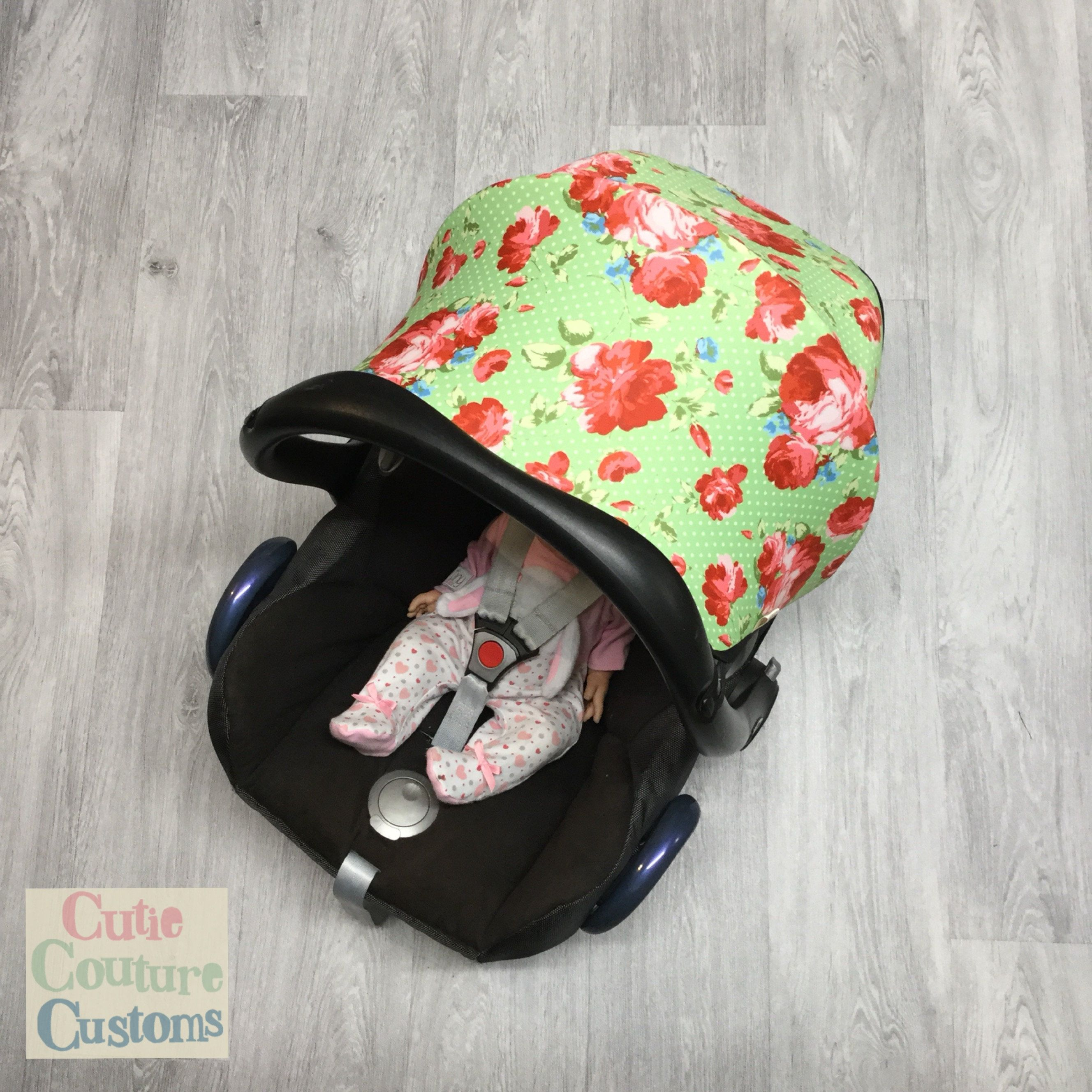 Floral Car Seat Cover, Maxi Cosi Carseat