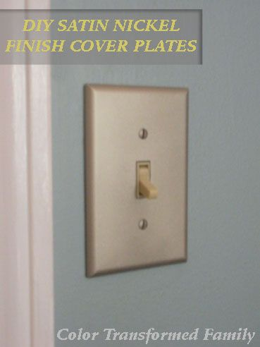 Diy Satin Nickel Cover Plates Light Switch Covers Light Switch