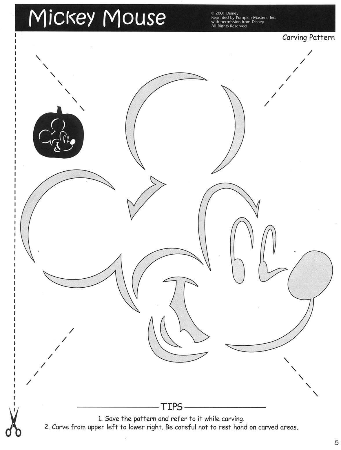 Free Disney Halloween Pumpkin Carving Stencil Templates W
