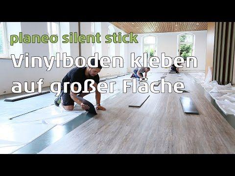 Vinylboden Auf Alte Bodenbelage In Grossen Raumen Schnell Verkleben Planeo Silent Stick Vinylboden Fliesen Verlegen Boden