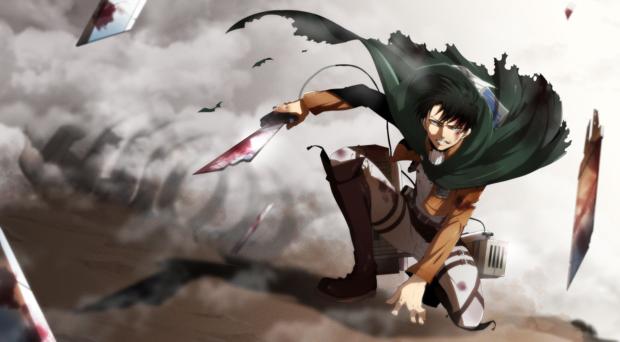 Levi 1578397 Fullsize Image 2000x1105 Zerochan Attack On Titan Levi Attack On Titan Anime Attack On Titan