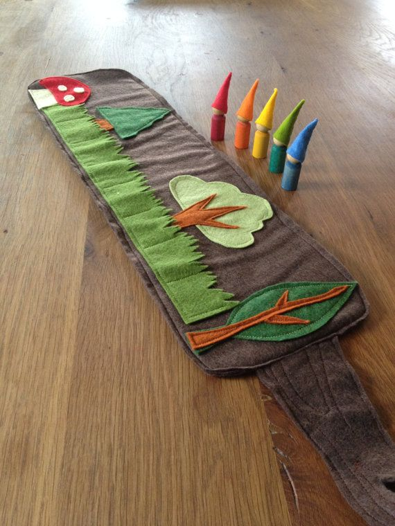 Woodland Roll up and play mat with choice of 5 by Gnomewerkspdx, $40.00
