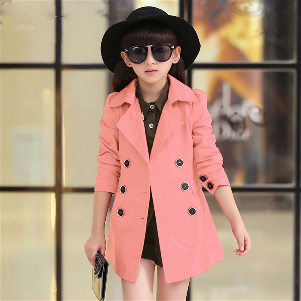 Click To Buy Fashion 2017 Spring And Autumn Girl Coat Long Sleeve Single Breasted Hooded Jacket For Girl Pr Childrens Outerwear Childrens Clothes Clothes [ 1000 x 1000 Pixel ]