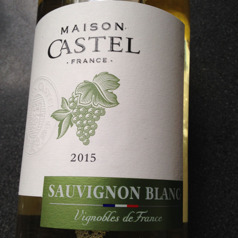 Castel Sauvignon Blanc 2015. Vis Mosselen. Wijn