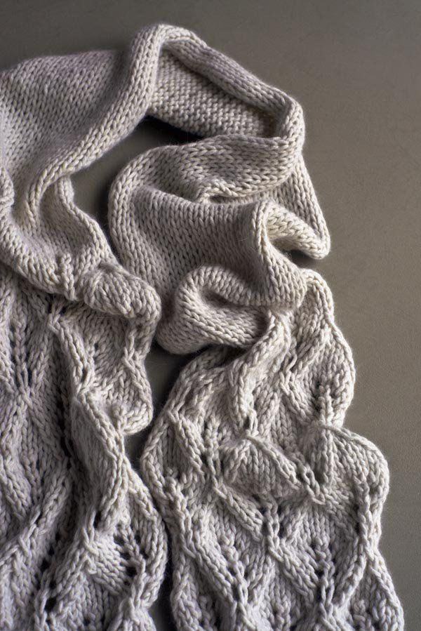 Lovely Leaf Lace Scarf in Lanecardate Feltro - this lace scarf is ...