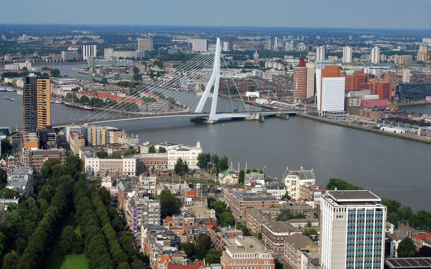 Rotterdam City In Netherlands Rotterdam Is The Second Largest City In The Netherlands And One Of The Largest Port San Francisco Skyline Skyline Travel