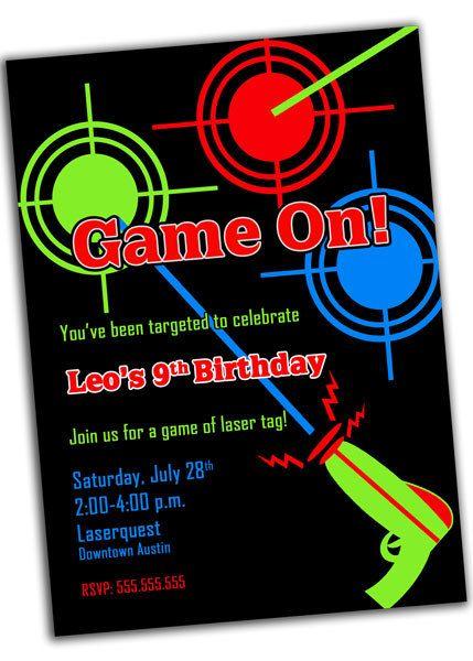 party invitations Laser Tag by Ellie B – Laser Tag Birthday Invitations Free
