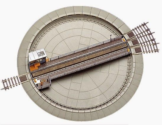 Ho Scale Turntable Model Train Table Model Trains Ho Model Trains