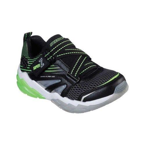 5d3cd6eed765e Boys' Skechers S Lights Rapid Flash 2.0 Soluxe Sneaker - Black/Lime Sneakers