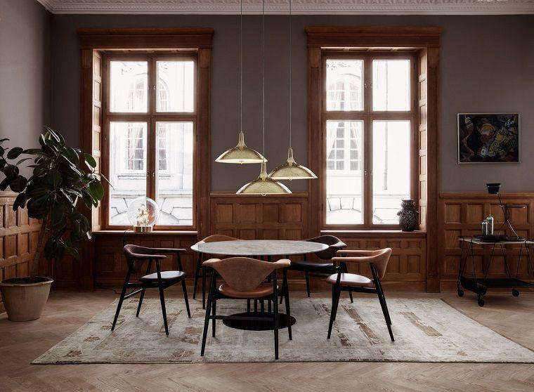 Arredare casa idee originali, sala da pranzo con mobili di legno ...