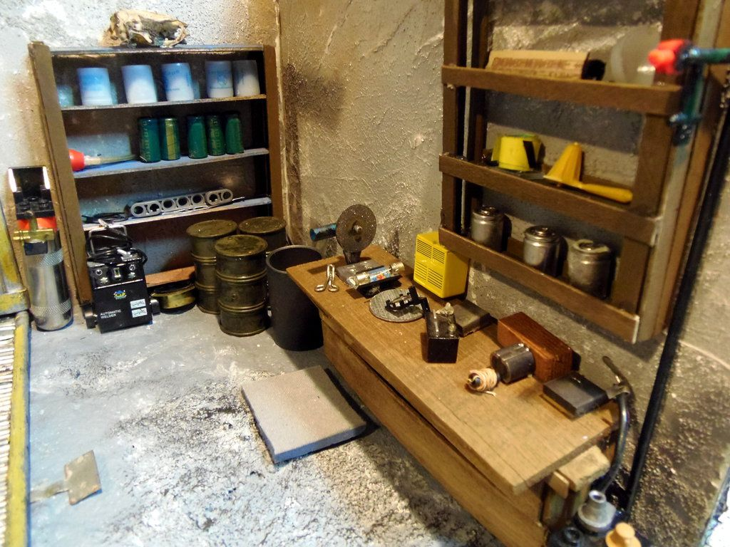 Marvelous Fallout 4 Garage Interior Diorama Workbench By Skphile Caraccident5 Cool Chair Designs And Ideas Caraccident5Info