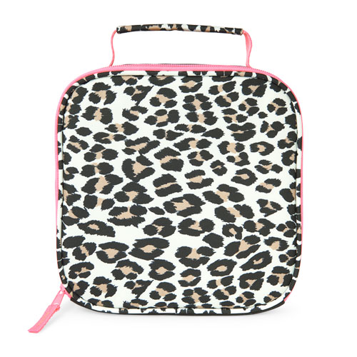 S Contrast Leopard Print Lunch Box