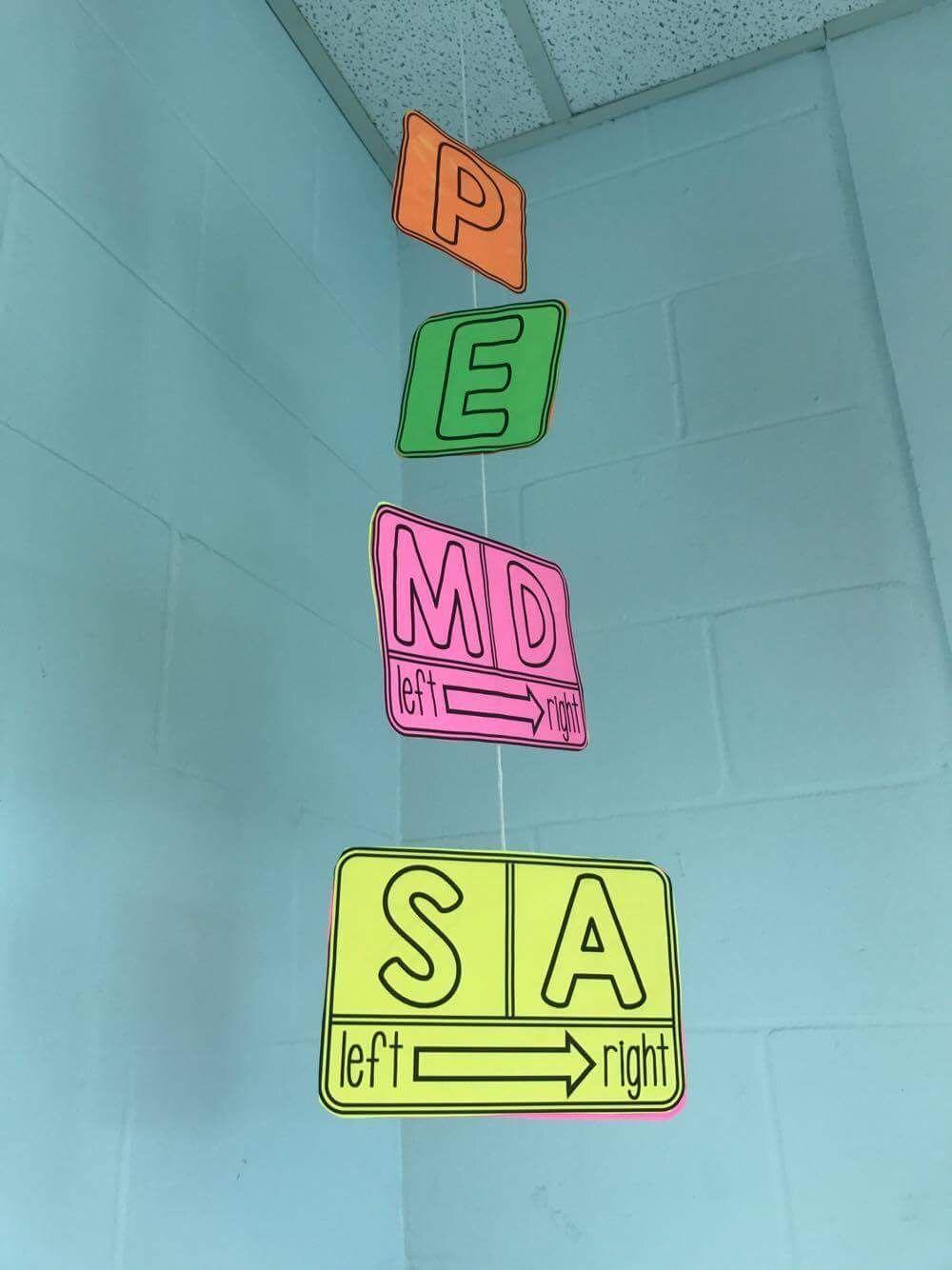 A Math Word Wall PEMDAS Mobile | Math words, Multiplication and Math
