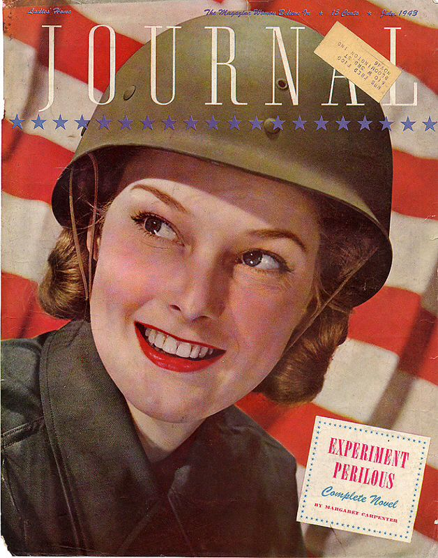 Woman and Home 1943 Vintage Womens Magazine Cover Poster Reproduction