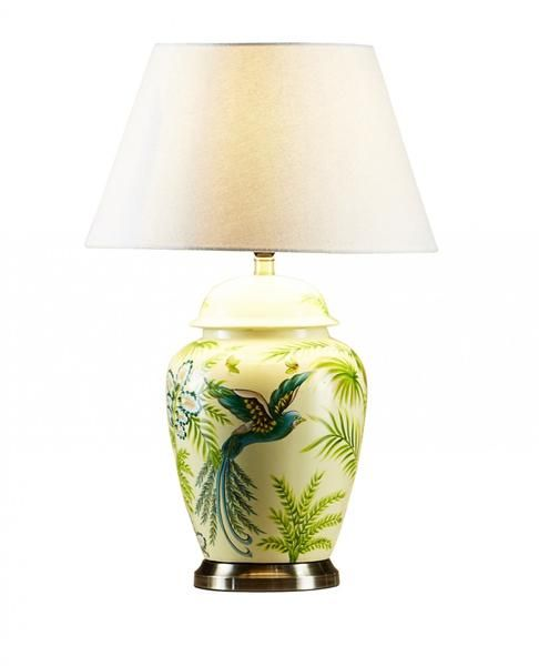 Pair Of Round Bedside Table Lamps