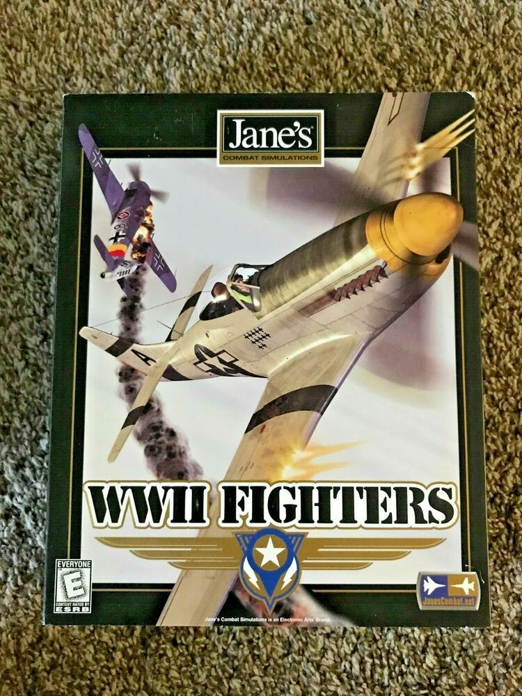 Jane's WWII Fighters Combat Simulation Big Box PC Game
