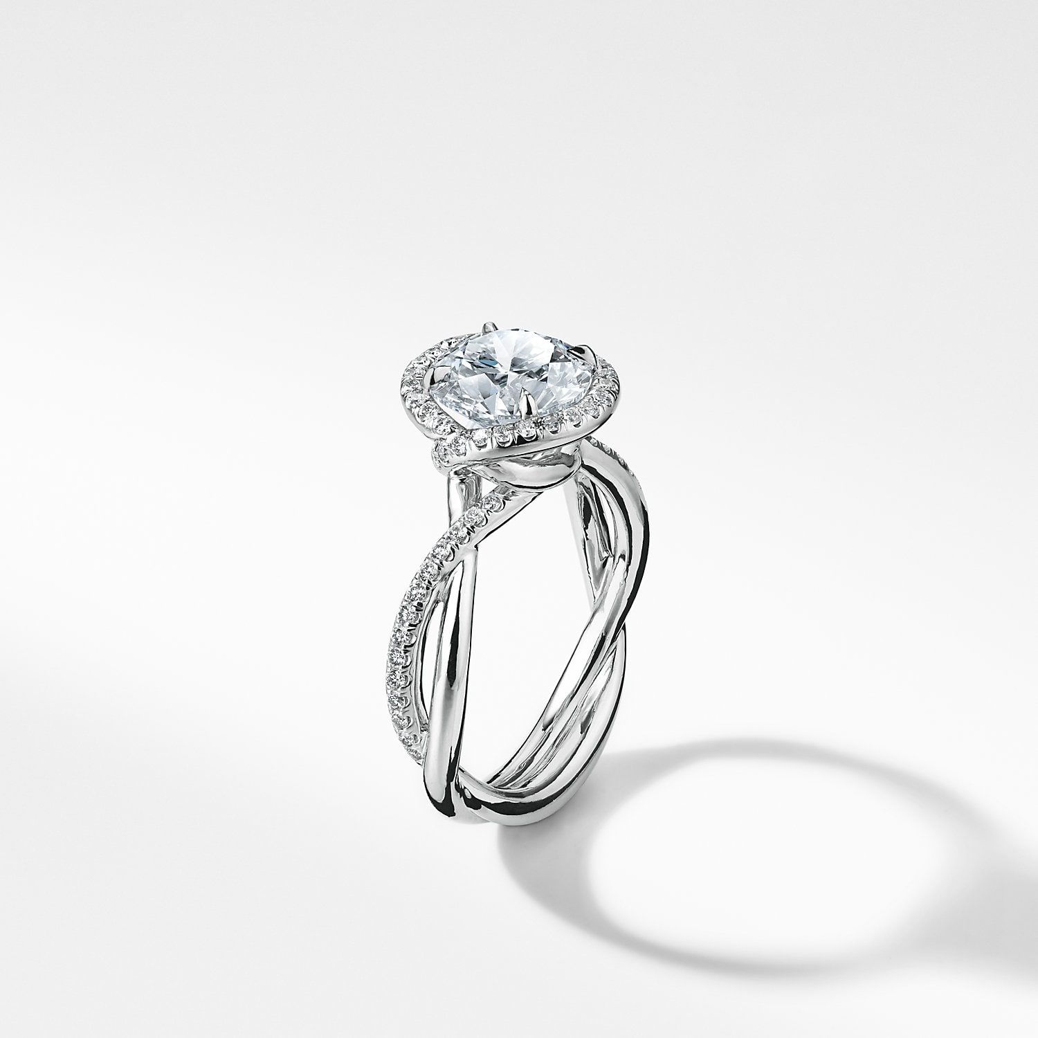 18a4bdb534875 David Yurman: DY Lanai Engagement Ring with Diamonds in Platinum ...