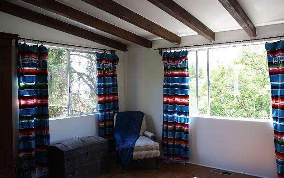 Inexpensive Mexican blankets make good curtains | Casita Ideas ...
