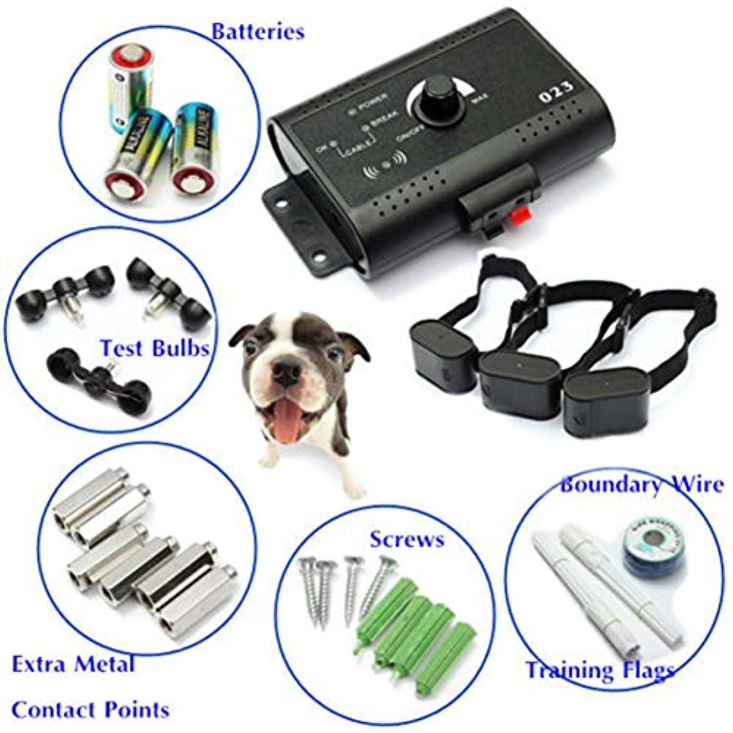 Dog Friendly Waterproof Shock Collar Electric Dog Fence System Wire ...