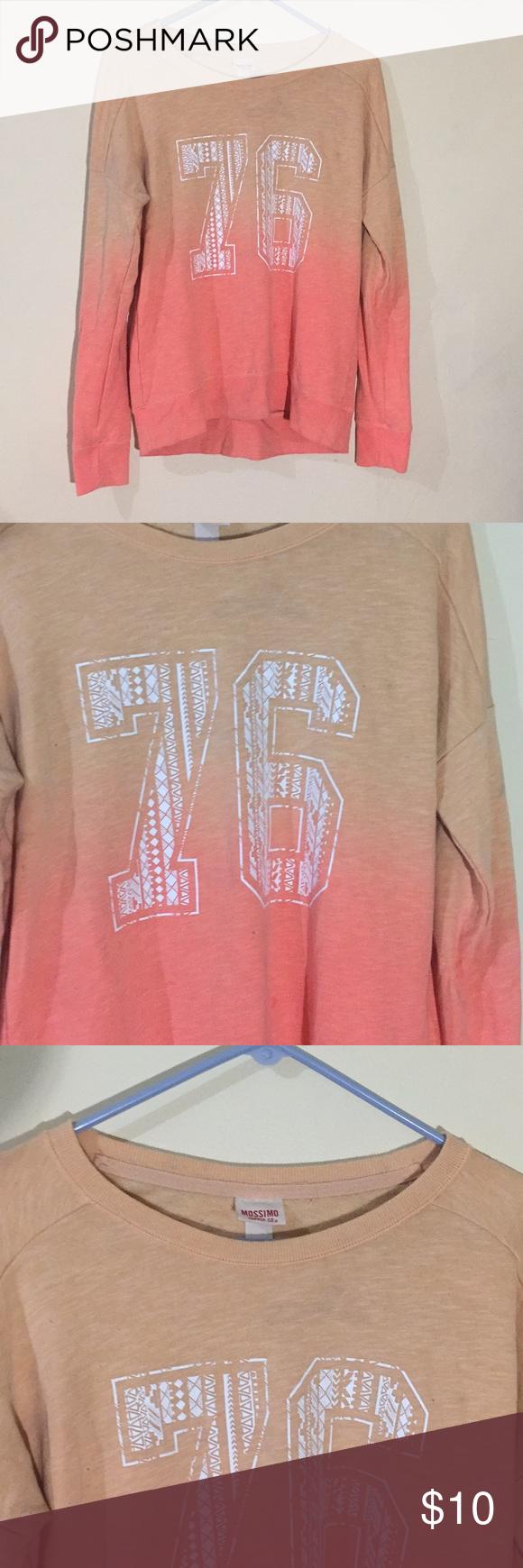 Peach Ombre Jersey Style Crewneck Sweatshirt Crew Neck Sweatshirt Sweatshirts Style [ 1740 x 580 Pixel ]