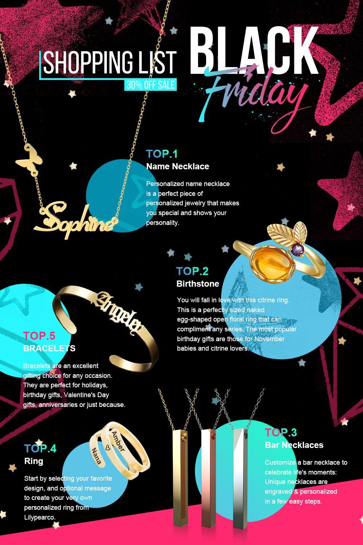 2020 Black Friday Shopping List In 2020 Black Friday Shopping List Name Necklace Black Friday Shopping