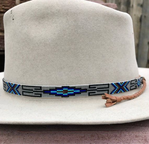 Beaded Spiral Design Hatband with Black aa1059a53d22