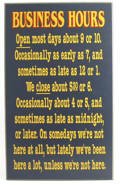 Funny Coffee Signs Business Hours Sign 18 Quot X 11