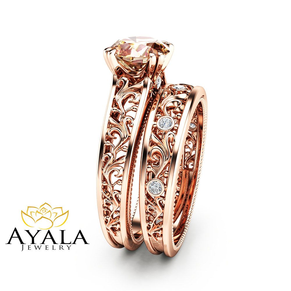 unique media rings shipping express ring wedding bands women yellow gold filigree sale band