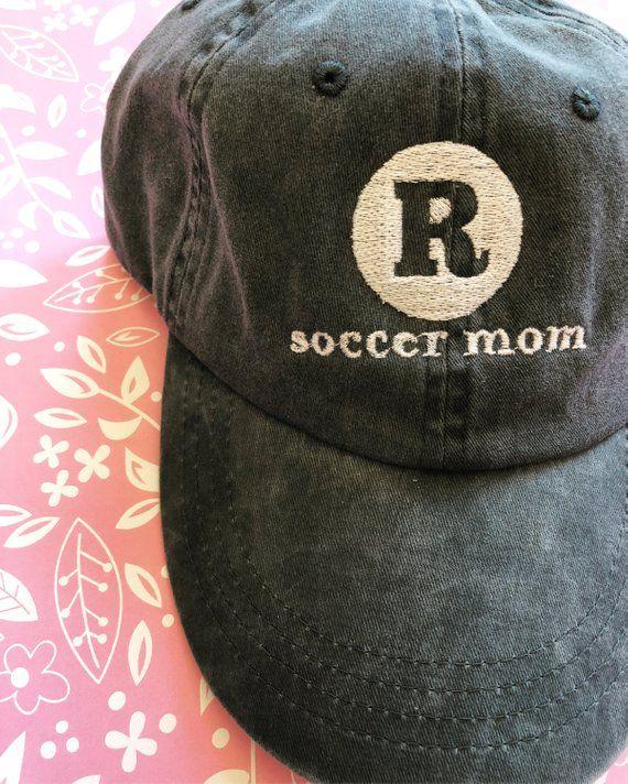 Soccer Mom Sports Mom Embroidered Hat  7bab1dd782