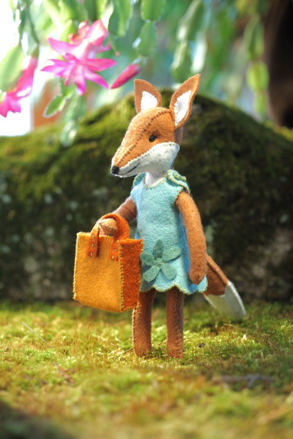 Charlotte Fox PDF pattern, girl fox pattern, foxy, beginner sewing ...