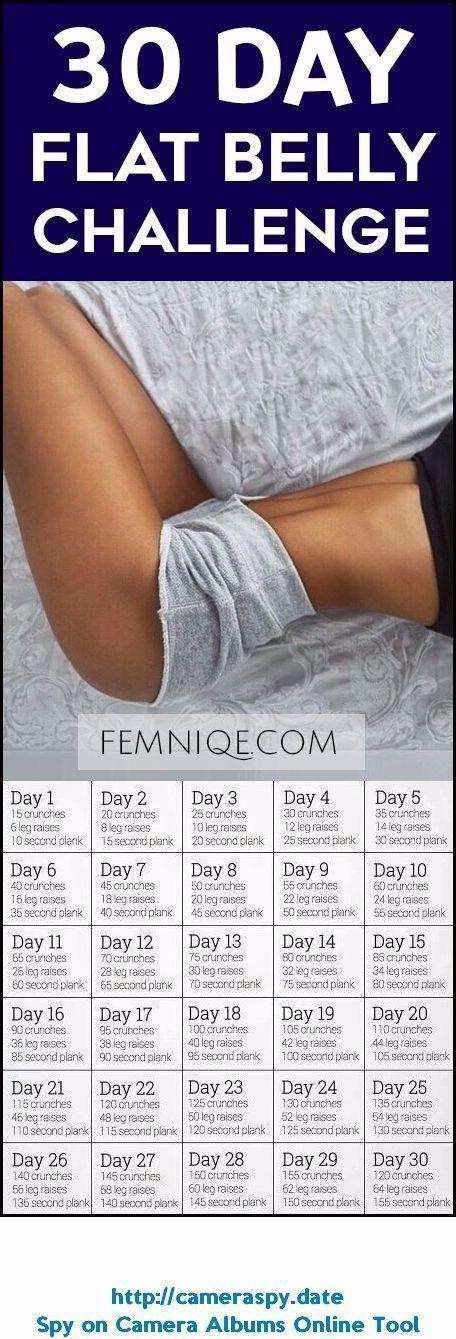 30-Tage-Training mit flachem Bauch Diese 30-Tage-Herausforderung mit flachem Bau…