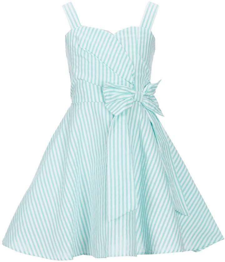 a834e87224b Rare Editions Big Girls 7-16 Seersucker Striped Bow Dress