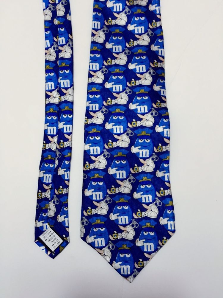 Blue M&M Police Man Men's Tie Chocolate Candy NEW NWT #MMs ...