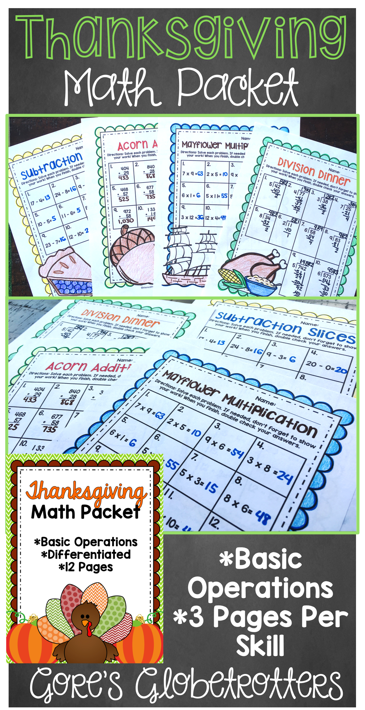 Thanksgiving Math Worksheets Differentiated And Editable Thanksgiving Math Worksheets Thanksgiving Math Math Worksheets [ 2445 x 1258 Pixel ]
