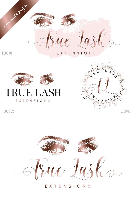 makeup logo design, Custom Logo design, Eyelash logo
