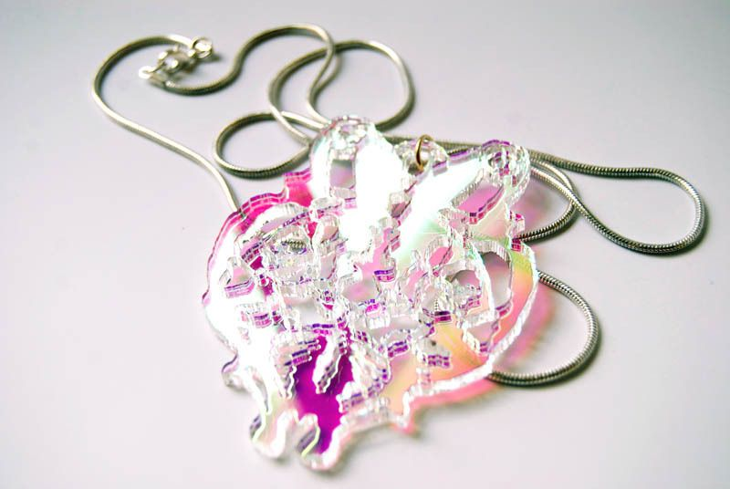 Image of Flutter Lyon Holographic Necklace
