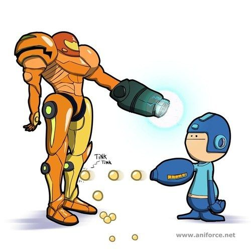 Mega Man Versus Samus Super Smash Bros Memes Mega Man Metroid