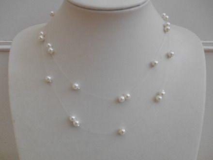 collier perle fil