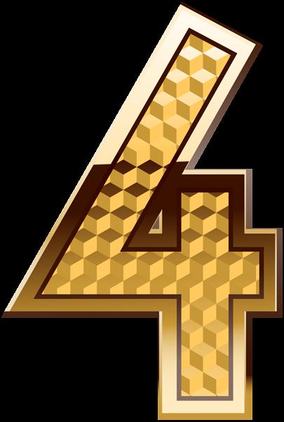 Gold Number Four Png Clip Art Image Art Images Clip Art Free Clip Art