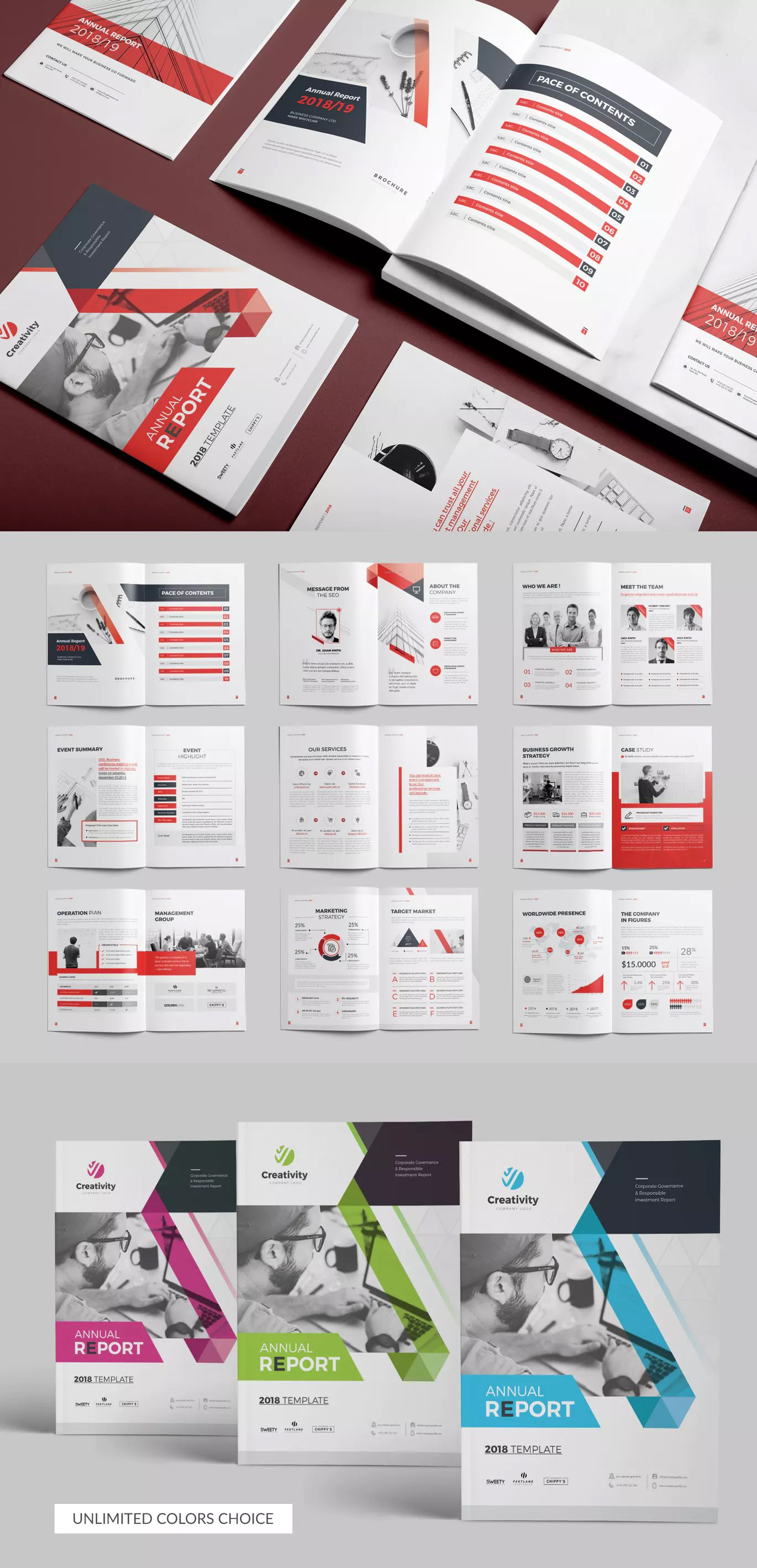 Annual Report Brochure Template Indesign Indd 20 Pages
