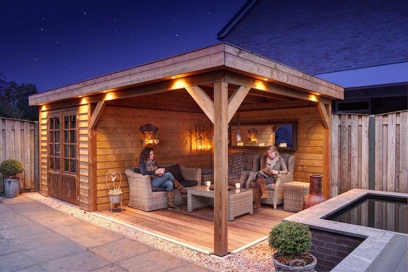 Douglas hout tuinhuis en overkapping Purmerend en Beemster - tuin ...