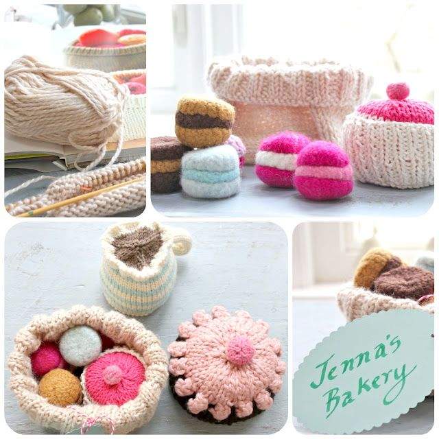 Wrapping up knitted goodies in a knitted basket