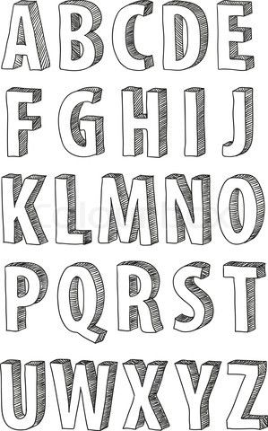 Tipografia 3d F O N T S Dekorasi