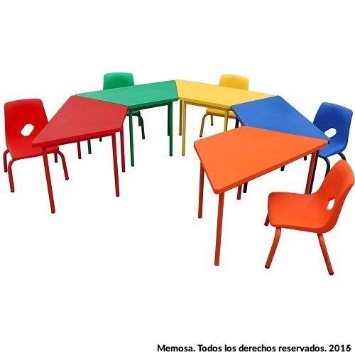 Sillas para salones simple muebles de saln de uas for Mesas para preescolar
